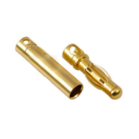 Gold coated connector 3mm (3 pair)